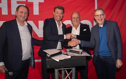 Van links naar rechts: Albert Jan Vos, Marcel Lip, Ad Schaap en Hermi Hurkmans.