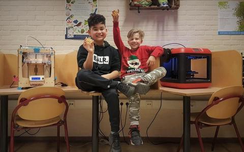Djeray en Jesse van OBS De Zandloper hebben dit jaar de medaille van de GigaG-Cascaderun ontworpen.
