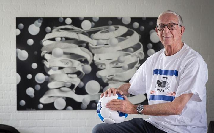 De 77-jarige Jan Blaauw voelt zich bevoorrecht nog te kunnen sporten.