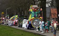 De carnavalsoptocht in Zwartemeer vorig jaar