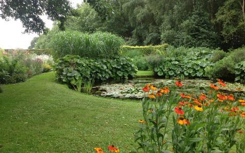 Een van de tuinen die is opgesteld voor publiek.