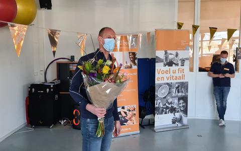 Henk Jan Nijenhuis werd in het zonnetje gezet in verband met zijn jubileum.