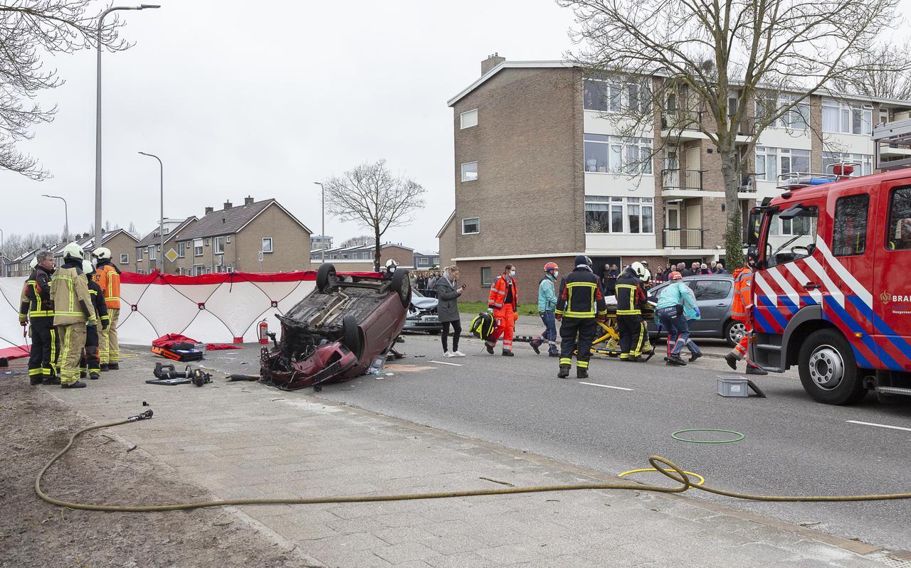 Vier auto's waren betrokken bij een ernstig ongeval op de Boekweitlaan.