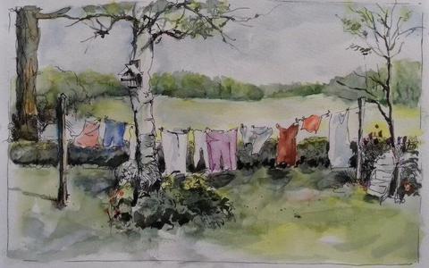 Een van de werken van Gert Oosterwijk.