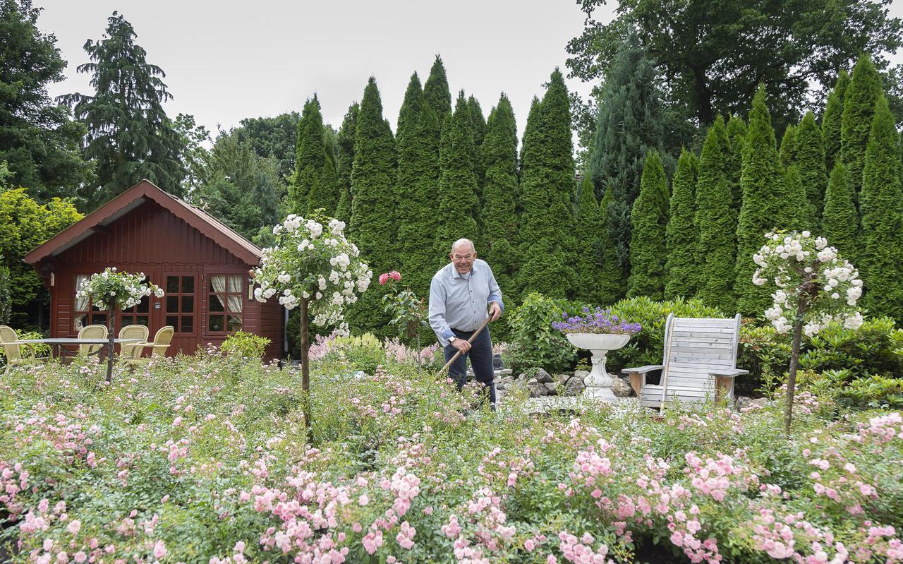 Eppe Trompetter handelt al zestig jaar in vee. Daarnaast is zijn grote hobby tuinieren.