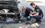 Autobrand in Hoogeveen door brandstichting.