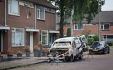 Het wrak dat nog over is na de brand aan de Helios in Hoogeveen.