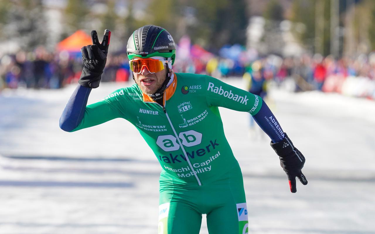 Frank Vreugdenhil wint voor de tweede keer achter elkaar de Alternatieve Elfstedentocht.